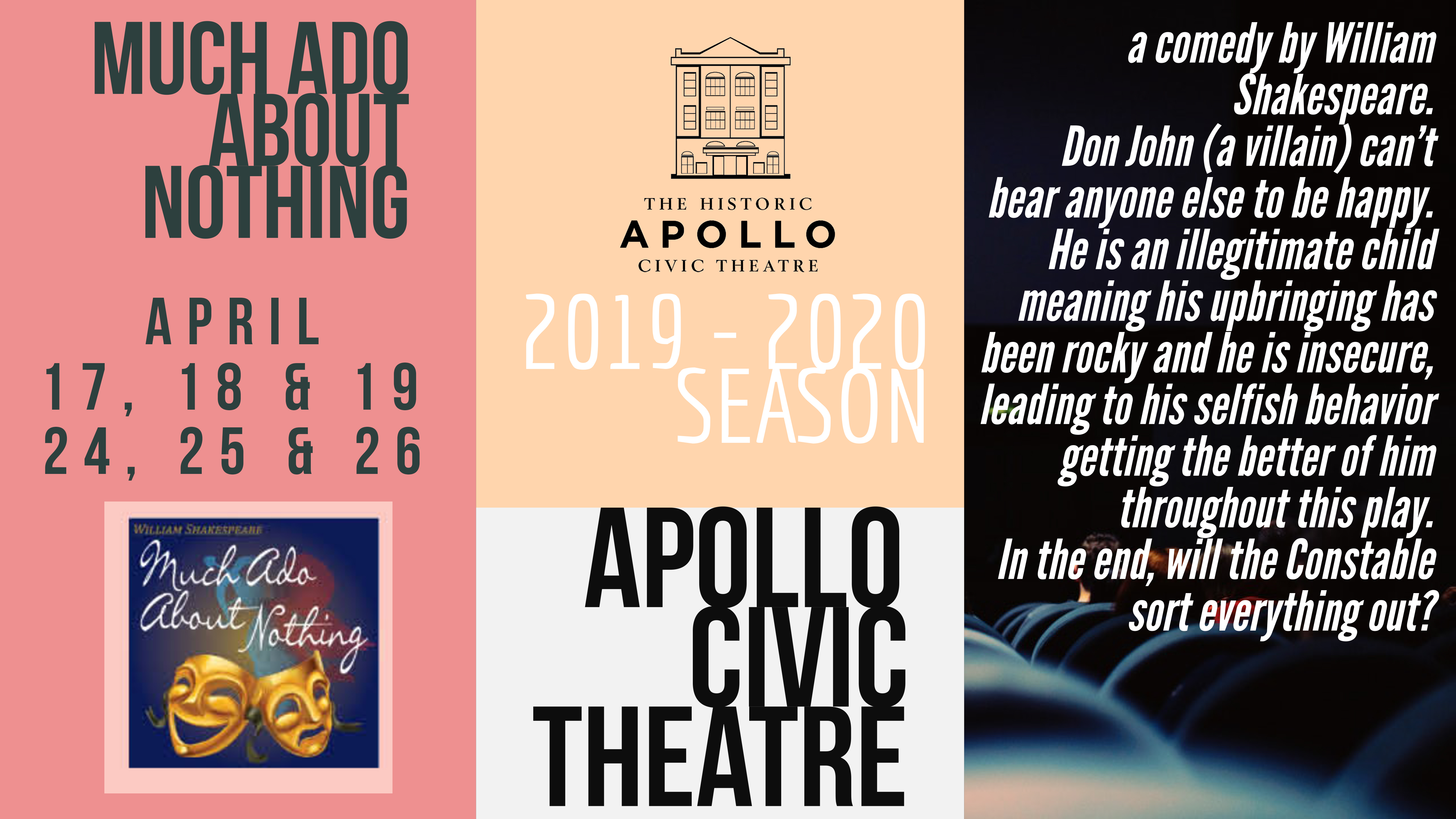 The Apollo Civic Theatre Announces Much Ado About Nothing Apollo Civic Theatre